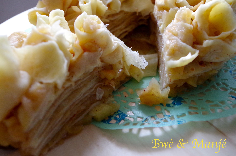 gâteau de crêpes pommes cannelle