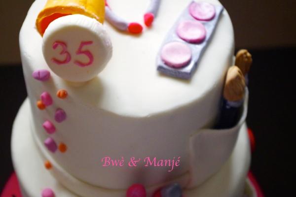 haut du gâteau blouse blanche