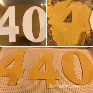 modèle lettres Number cake