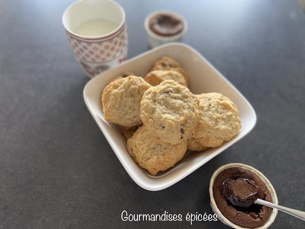cookies et fondant au chocolat réalisés en atelier