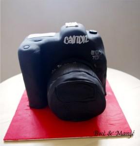 appareil photo cake design