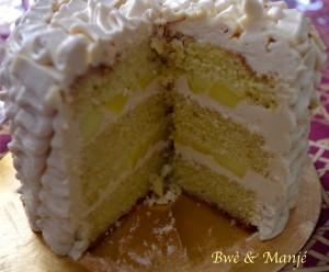 gâteau à étages vanille pomme caramel