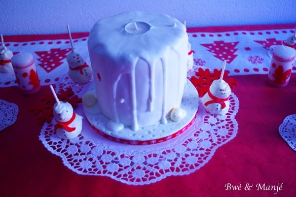gâteau bougie de noël cake design