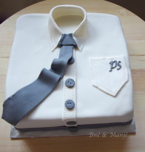 gâteau pâte à sucre chemise