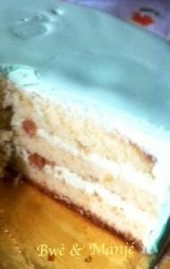 intérieur gâteau de Pâques