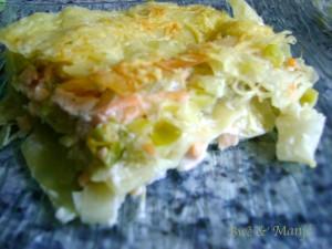 lasagne poireaux-saumon