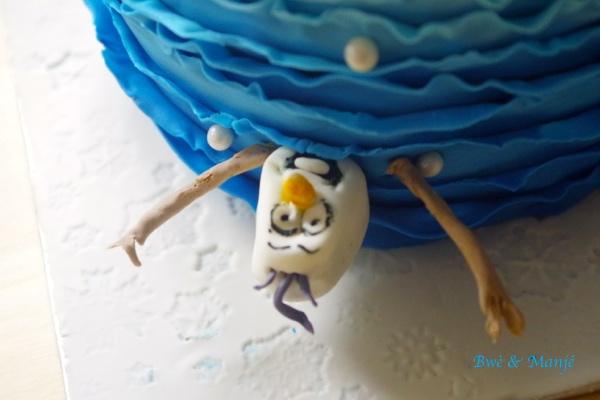 olaf gâteau reine des neiges