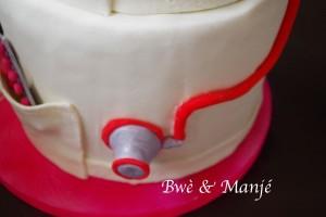 stétoscope cake design