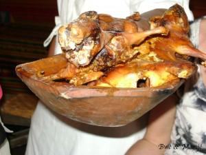 Le Cuy (cochon d'inde), une des spécialités de ce magnifique pays.