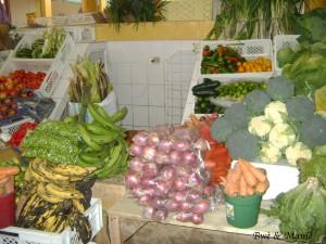 légumes vendu au marché