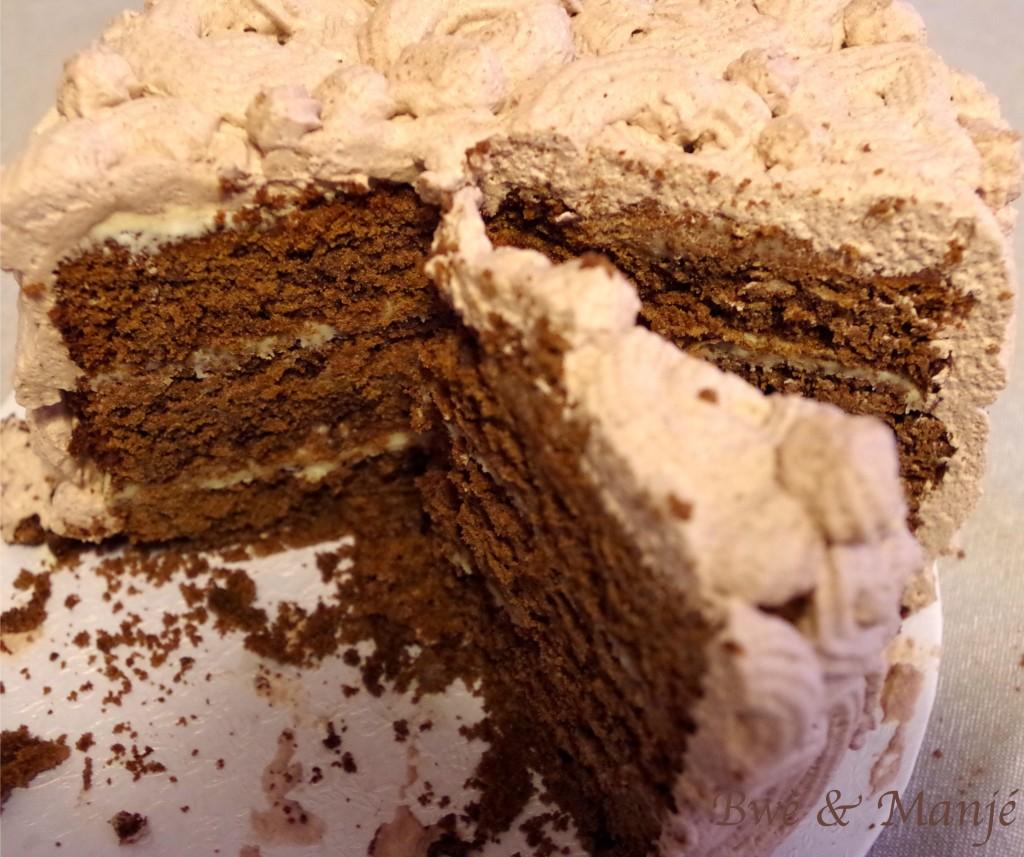 Layer cake triple chocolat