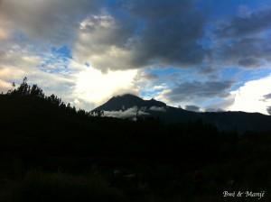 vue d'un volcan
