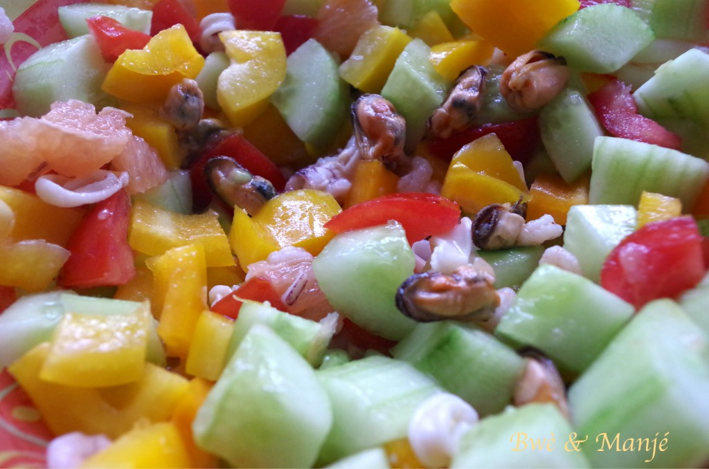 Salade fraîcheur aux fruits de mer