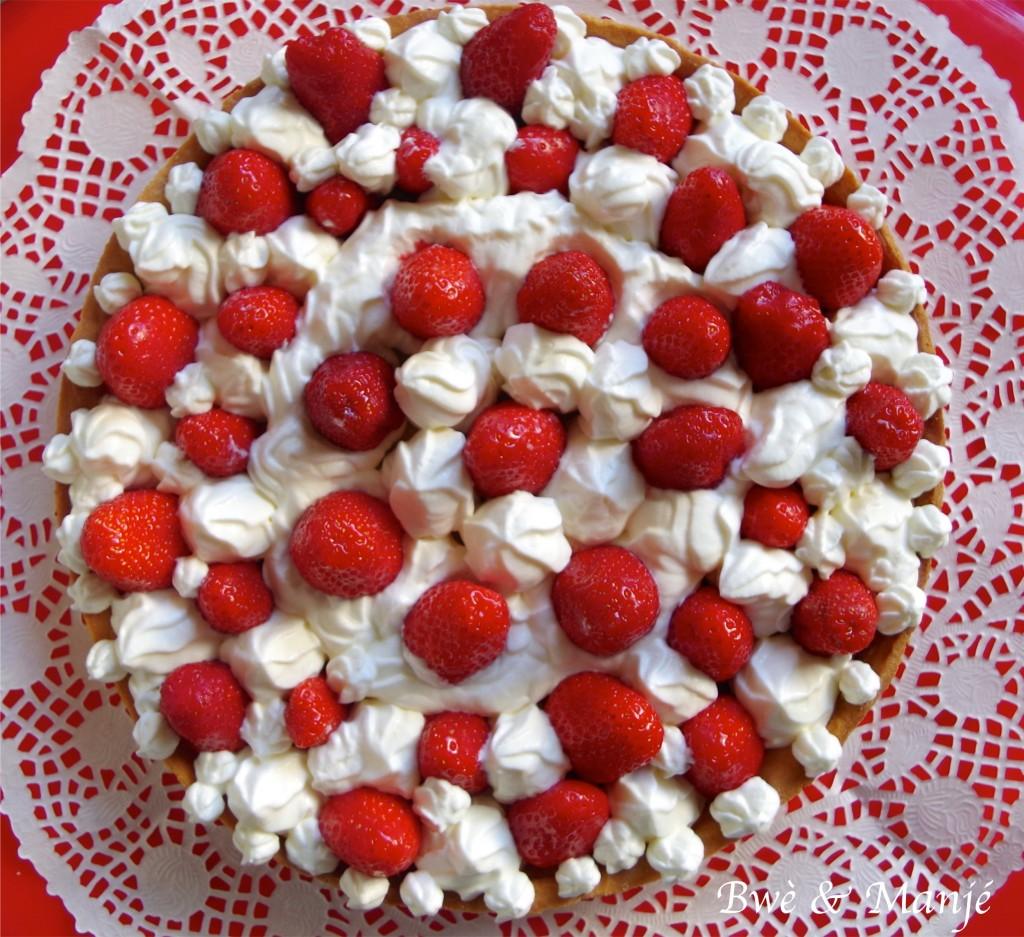 Tarte fraises chantilly mascarpone