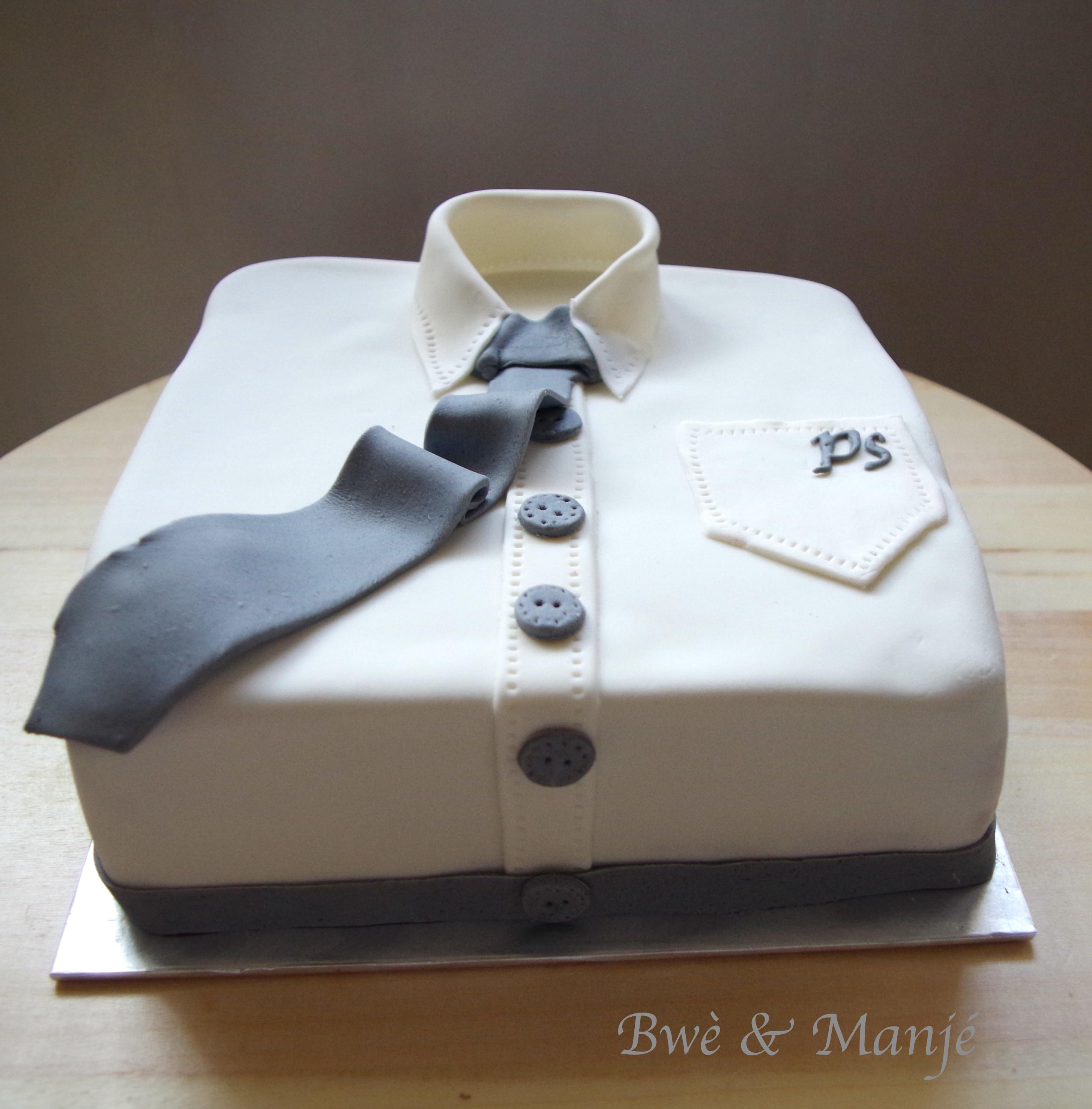 g teau chemise f te des p res cake design gourmandises pic es. Black Bedroom Furniture Sets. Home Design Ideas