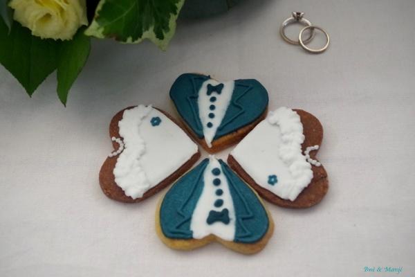sablés décorés mariage