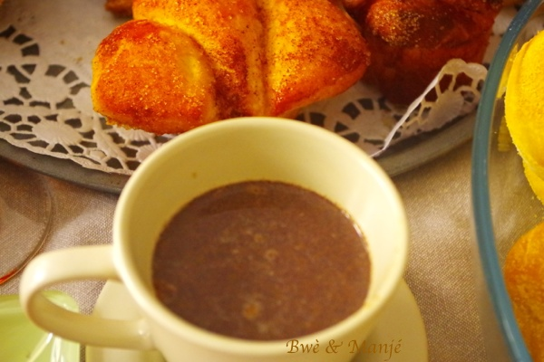 Chocolat chaud martiniquais {chocolat de communion}