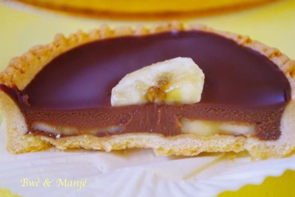 Tarte chocolat-banane {fiche technique cap pâtissier}