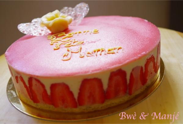 fraisier fête des mère