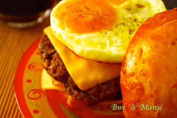 Hamburger maison (steak et pain)