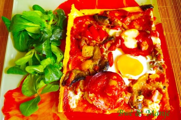 Tarte fine façon pizza
