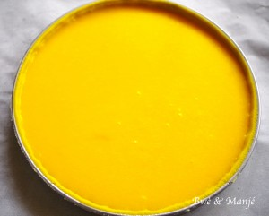 tarte orange passion avant cuisson