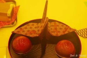 origami en chocolat