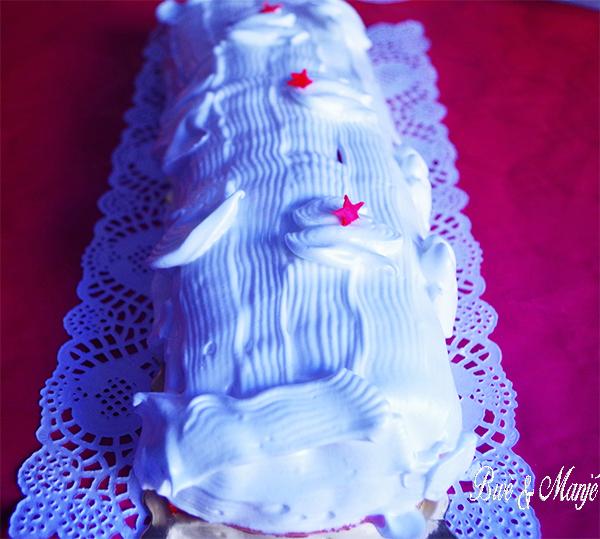 buche facon charlotte framboises meringuee