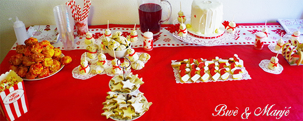 table de noel sweet table