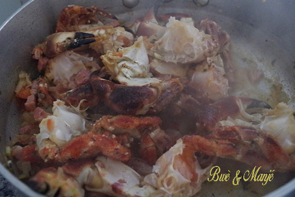 preparation matete de crabes
