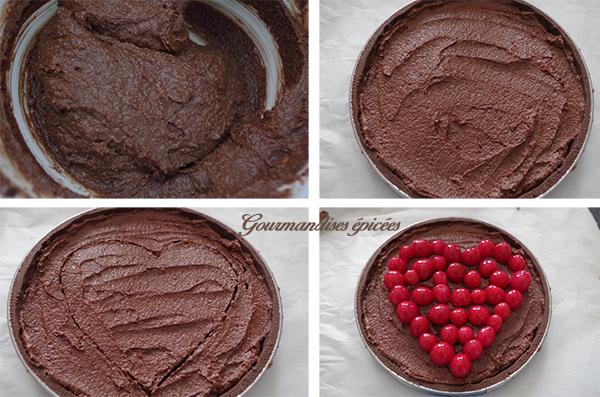 tarte chocolat bigarreau avant cuisson