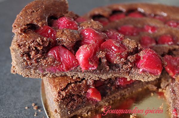 tarte chocolat cerise st valentin