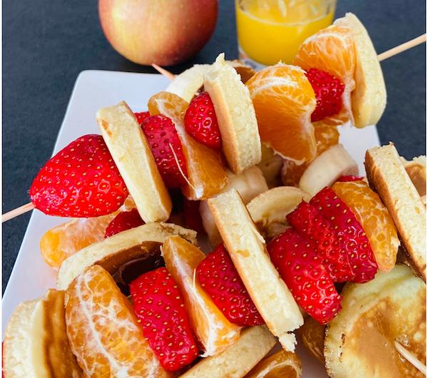 Brochettes de pancakes