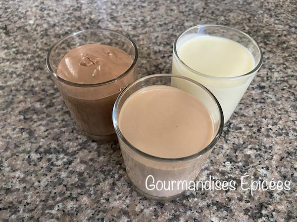 Mousse au chocolat sans oeufs (mousse parfaite pour le trois chocolats