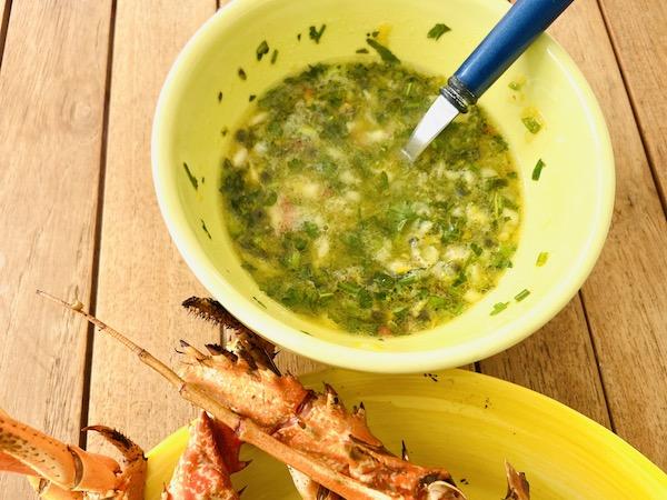 Sauce exotique pour langoustes grillées (poissons et crustacés)