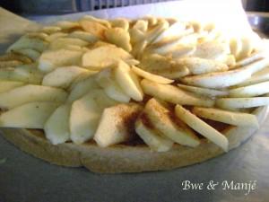 tarte  pommes canelle speculoos