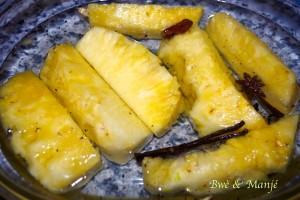 ananas avant cuisson