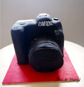 appareil photo cake design