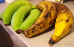 bananes vertes bananes plantain