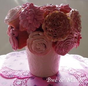 bouquet cupcakes fleurs