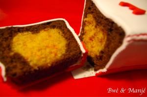 cake chocolat coeur noix de coco