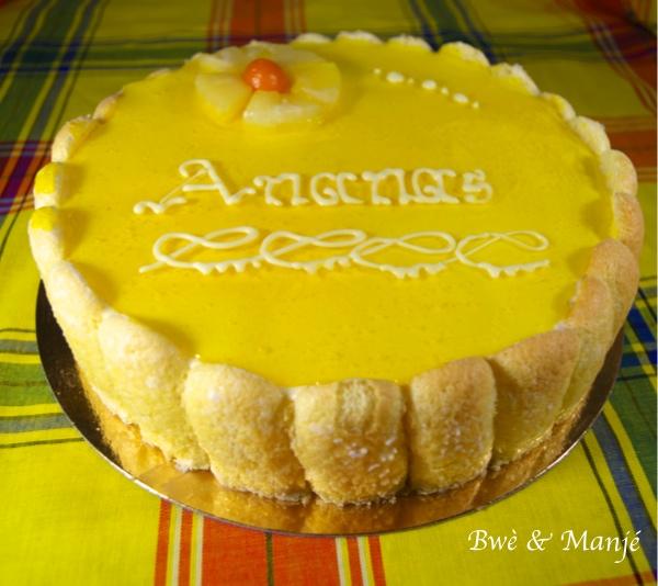 charlotte vanille-ananas