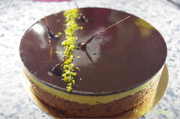 entremet pistache chocolat
