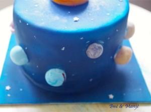 gâteau astronomie pâte à sucre
