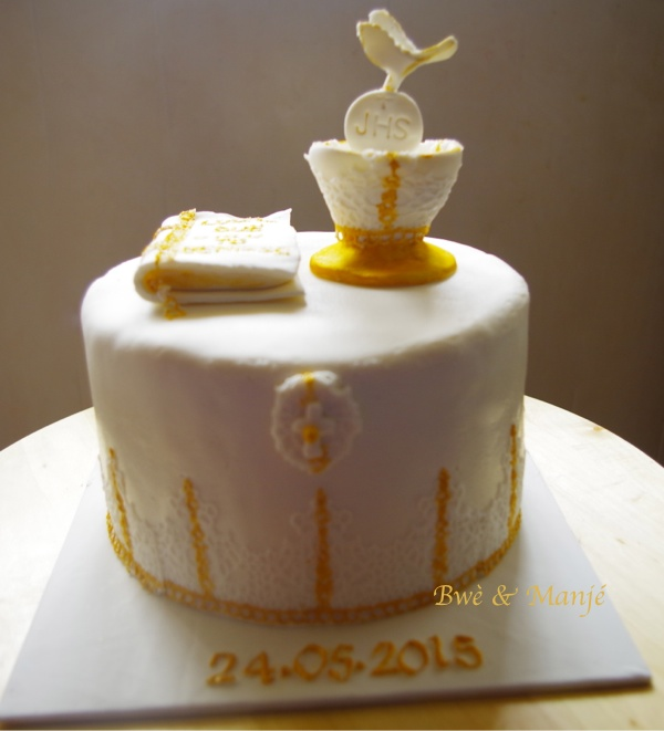 gâteau communion cake design
