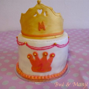 gâteau couronne princesse