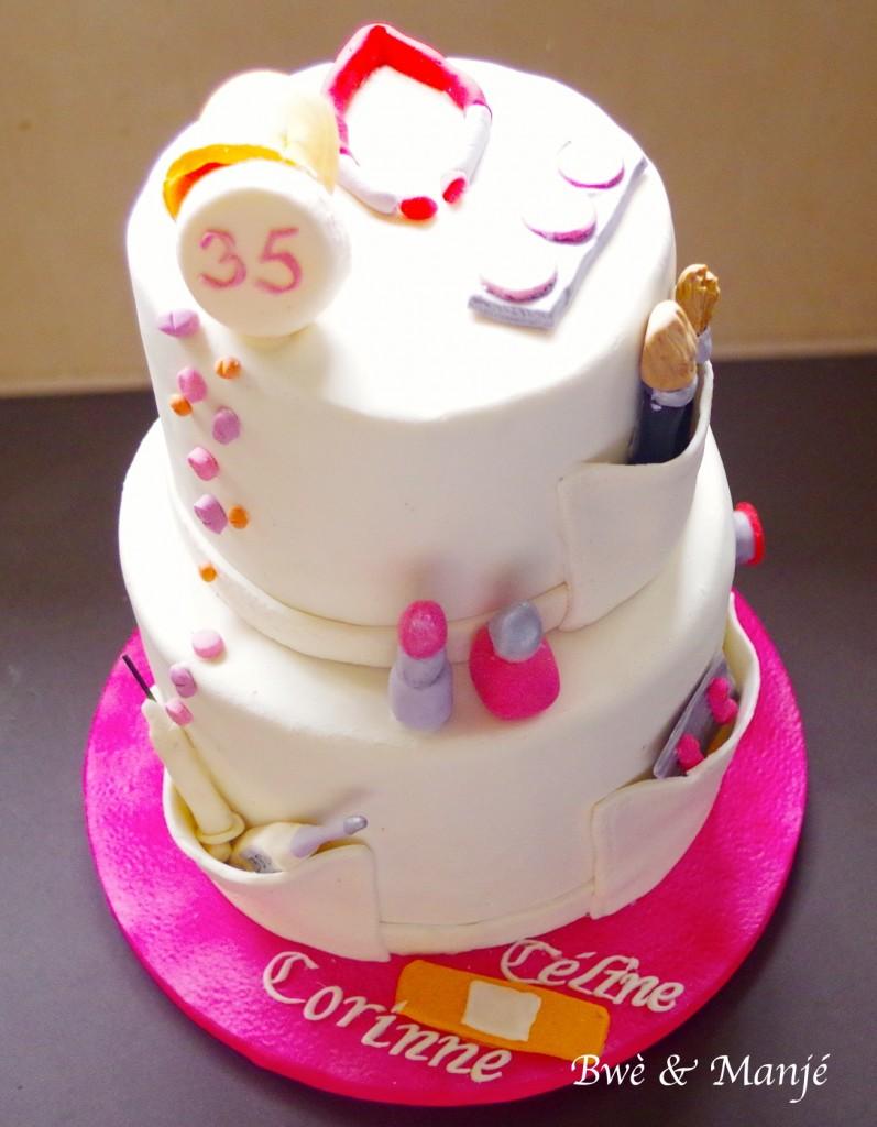 gâteau esthéticienne cake design