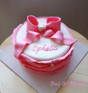 gâteau froufrou rose