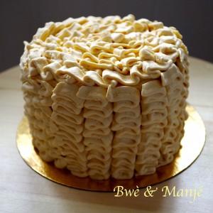 gâteau froufrou vanille pommes caramel