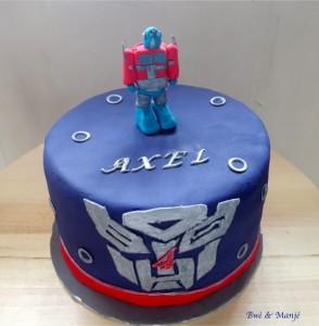 gâteau optimus prime